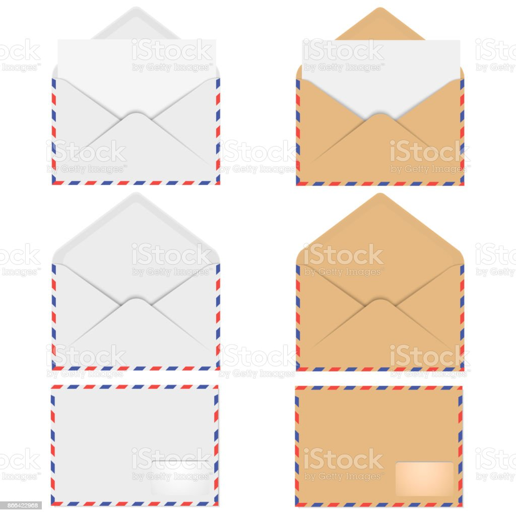 Realistic mockup envelope for letter or invitation card vector stock realistic mockup envelope for letter or invitation card vector royalty free realistic mockup stopboris Choice Image