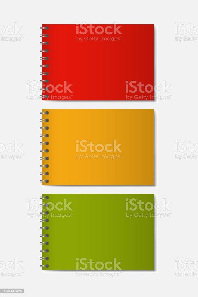 Ilustración de Notebook Modelo Realista 3d Con Cubierta Dura De ...