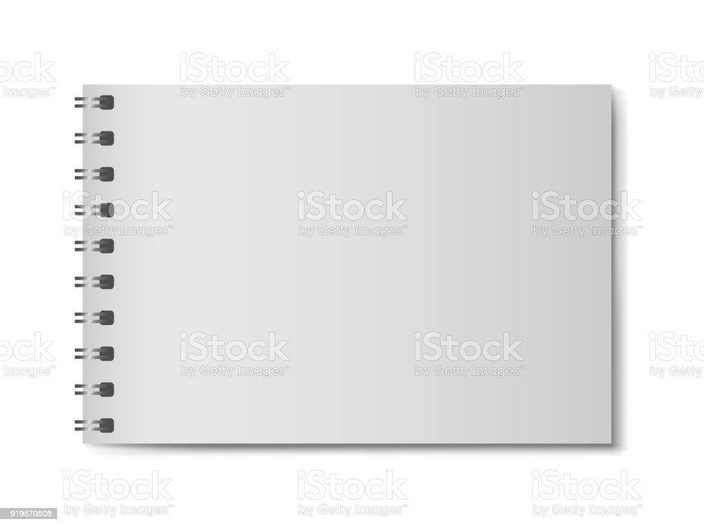 Notebook Modelo Realista 3d Sin Tapa Dura Organizador Horizontal Con ...