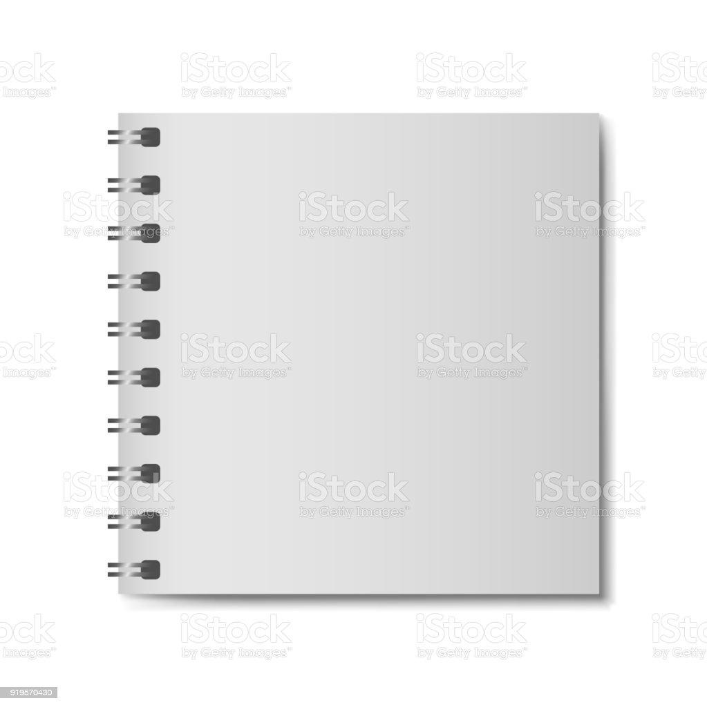 Realistisches 3dmodell Notebook Ohne Festen Einband Quadratische ...