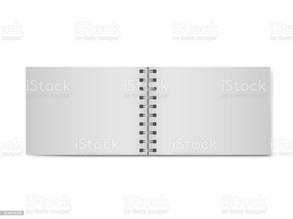 Cuaderno Abierto Modelo Realista 3d Sin Tapa Dura Organizador ...