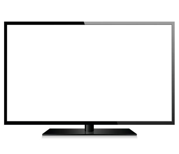 Realistic modern TV Vector realistic modern TV projection screen stock illustrations