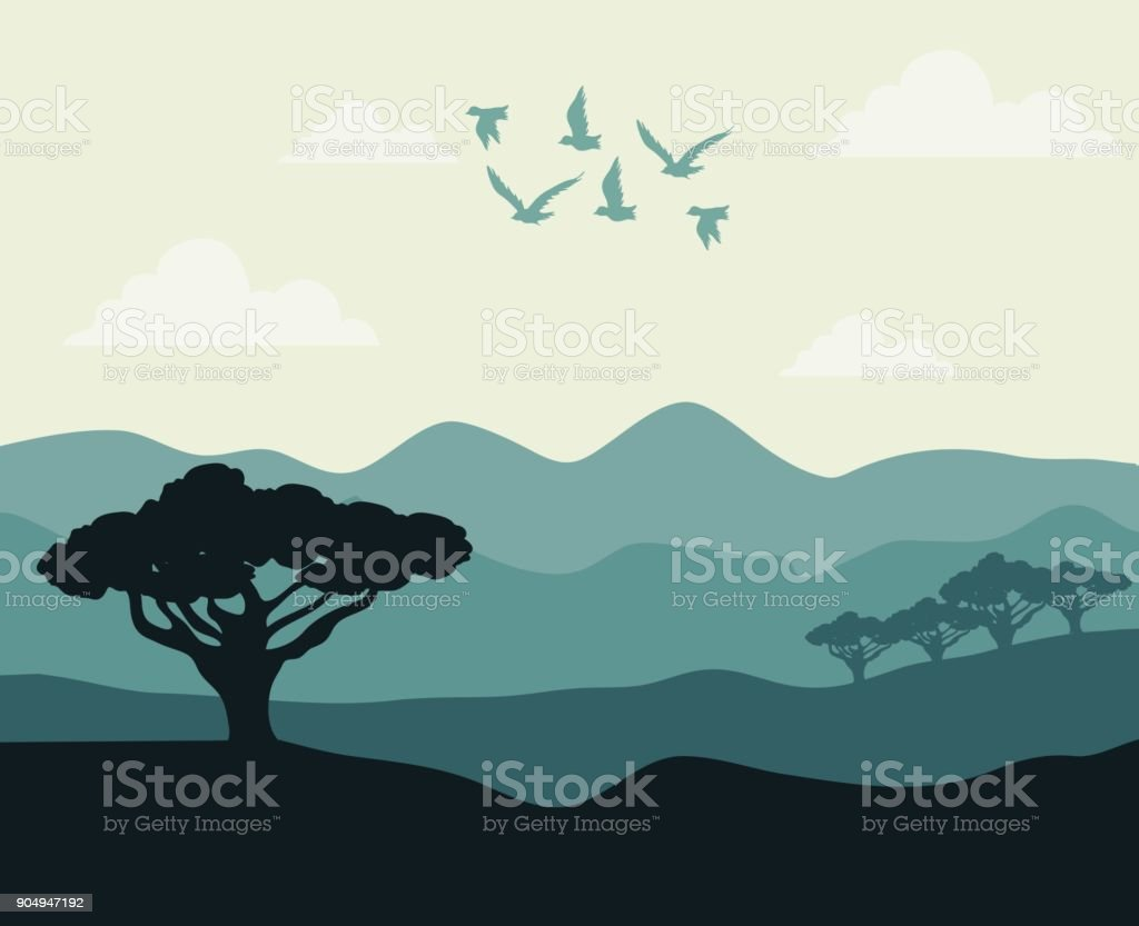 Realistic Mountain Landscape Design Stock Vector Art More Images Of Abstract Istock,Pink Baby Shower Nail Designs