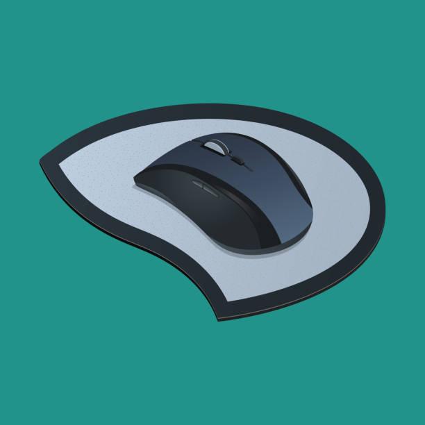 ilustrações, clipart, desenhos animados e ícones de realista mouse - ícones de design planar