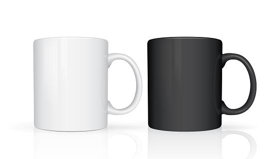Realistic mug mock up