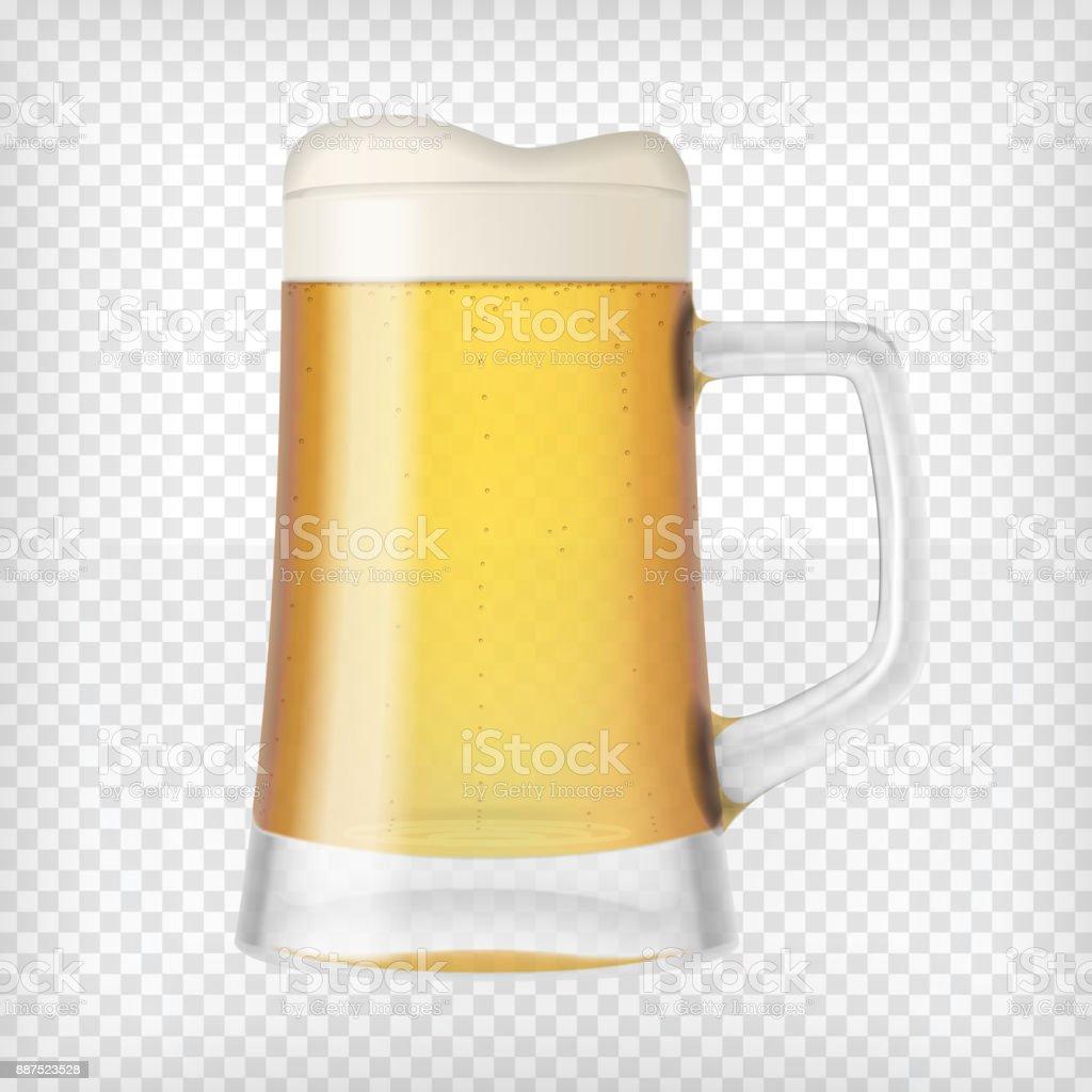Realistische Becher mit Bier – Vektorgrafik