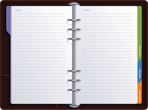 Realistische Notebook Stock Vektor Art und mehr Bilder von Aktenordner