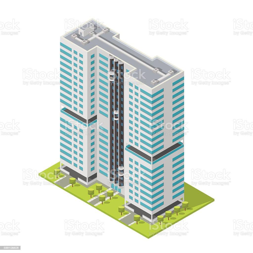 realistic office building isometric skyscraper modern apartments rh istockphoto com