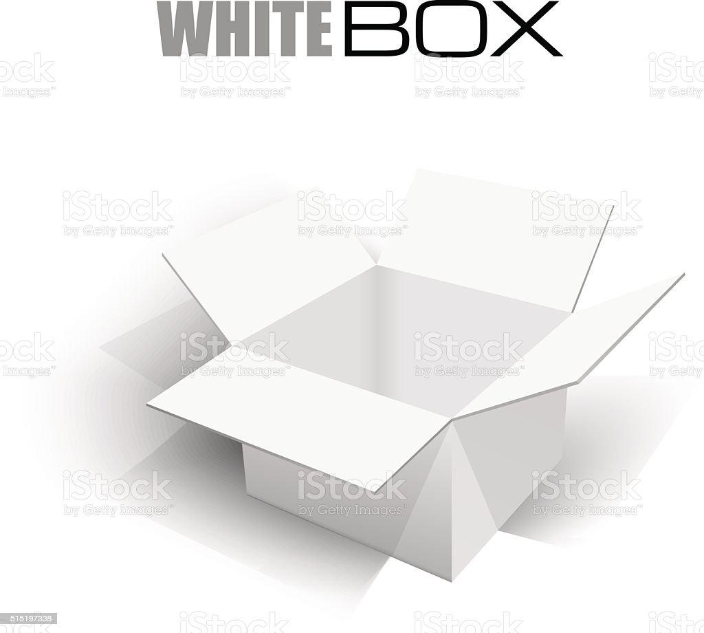 Realista Abrir caixa com sombras. Conceito de transporte, podem ser usadas - ilustração de arte em vetor