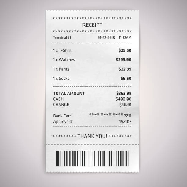 Best Dinner Receipt Illustrations, Royalty-Free Vector ... |Restaurant Receipt Clipart