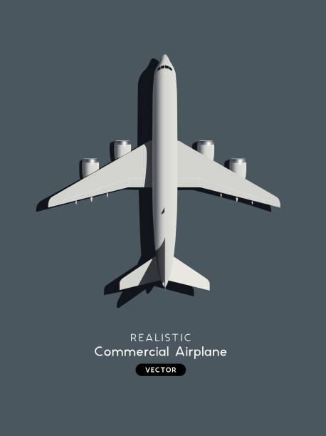Realistischer Flugzeugabsturz – Vektorgrafik