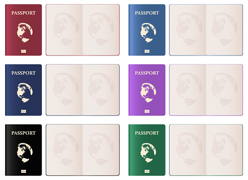 Realistic passport vector design illustration isolated on white background
