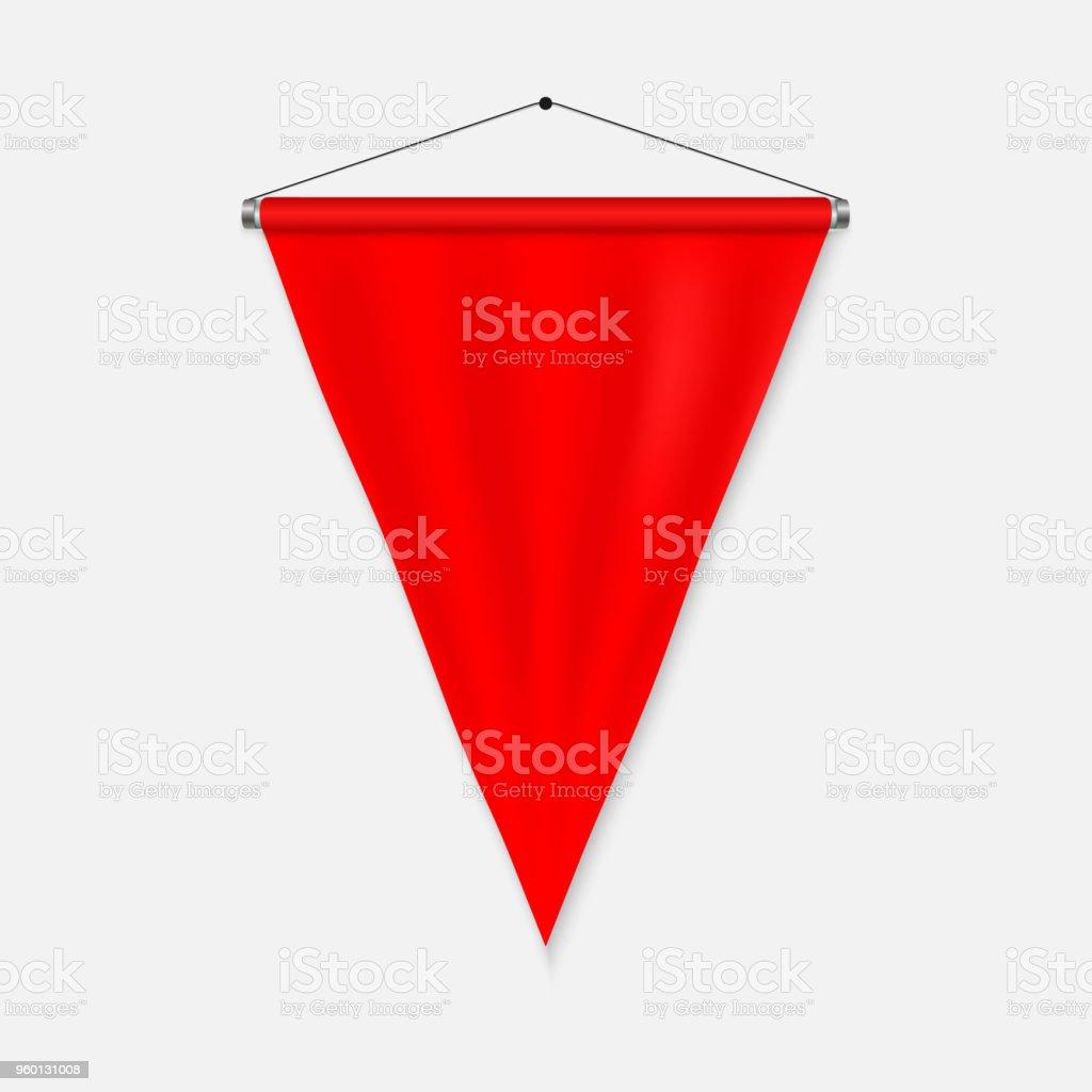 Plantilla de banderín realista - ilustración de arte vectorial