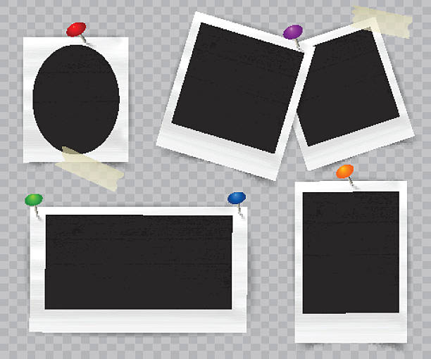 realistic photo frame - bildformate stock-grafiken, -clipart, -cartoons und -symbole