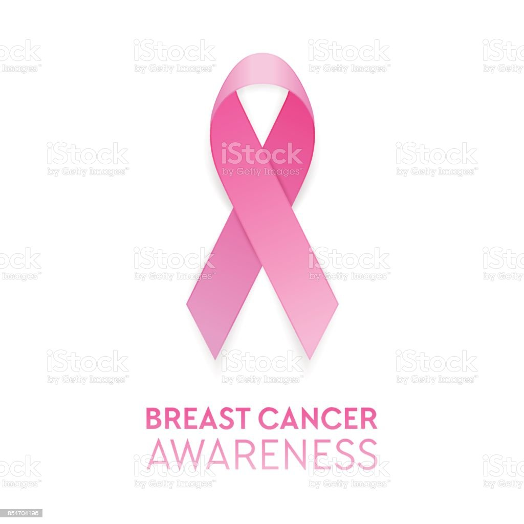 b8339f08e1f Realistic pink ribbon closeup isolated on white background, breast cancer  awareness symbol. Design template for banner, invitation, poster etc. Stock  vector ...