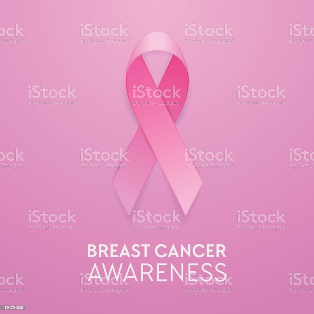 Realistic pink ribbon closeup on pink background breast cancer realistic pink ribbon closeup on pink background breast cancer awareness symbol design template for buycottarizona Images