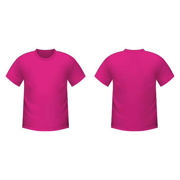 Realistische Rosa -t-Shirt – Vektorgrafik