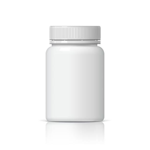 Realistic plastic bottle. Realistic plastic bottle. Mock Up Template. Vector illustration aspirin stock illustrations