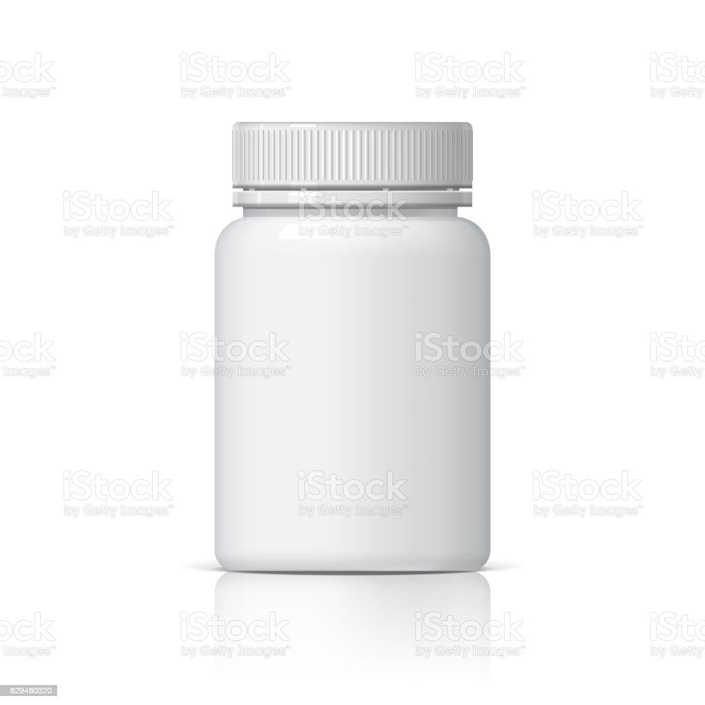 Realistic plastic bottle. vector art illustration