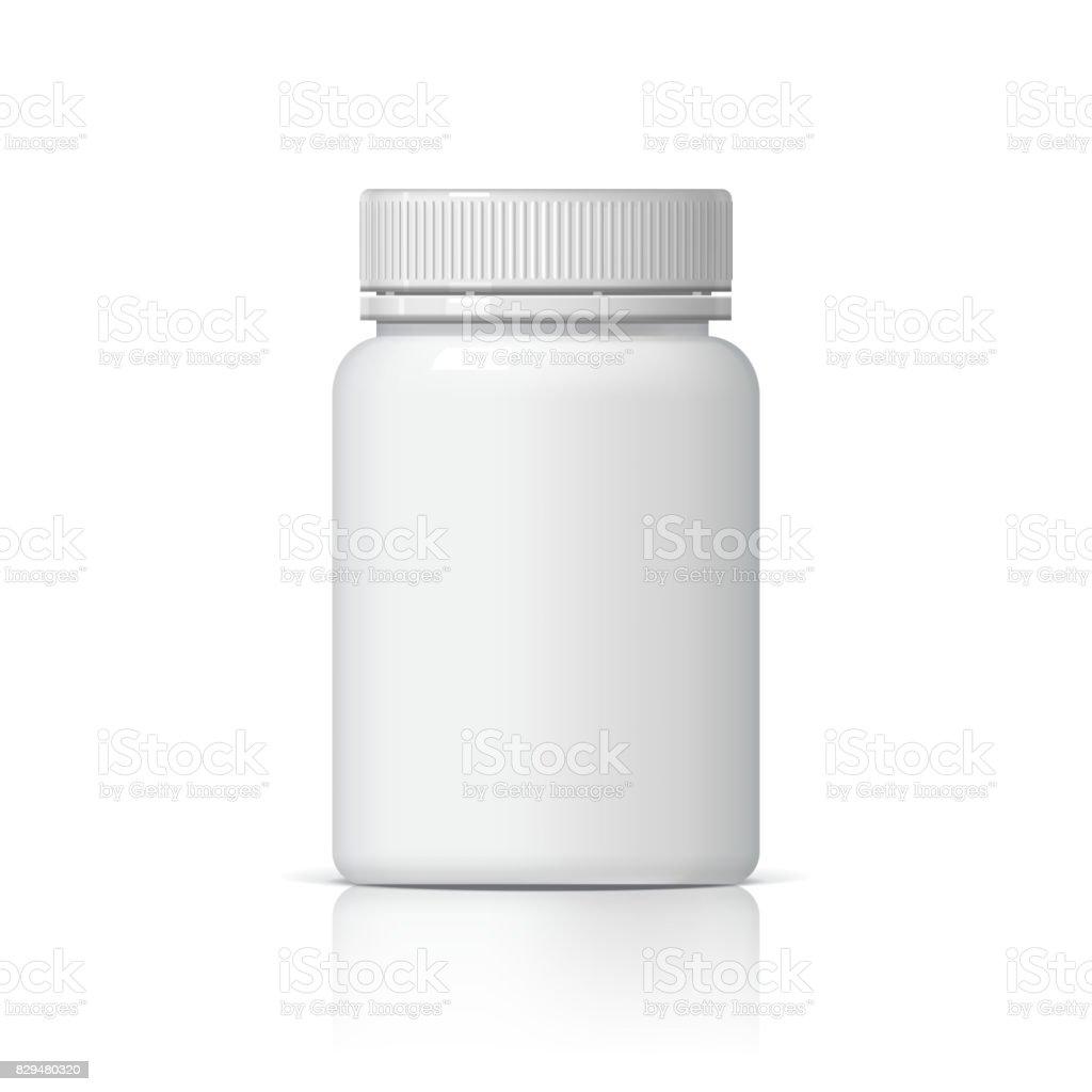 Botella de plástico realista. - ilustración de arte vectorial