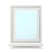 Realistic Plastic White Window Vector. Isolated Illustration