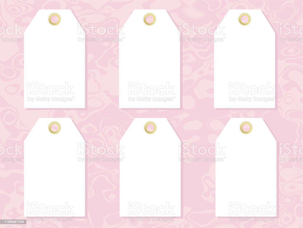 Realistic Price Tag Cardboard Label Paper Sale Tags Mockup