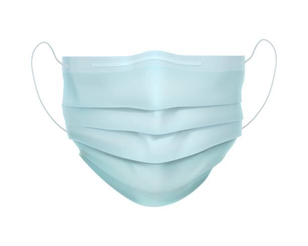 illustrazioni stock, clip art, cartoni animati e icone di tendenza di realistic protective medical face mask. - mask surgery