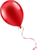 Realistic red balloon illustration -  eps10 vector