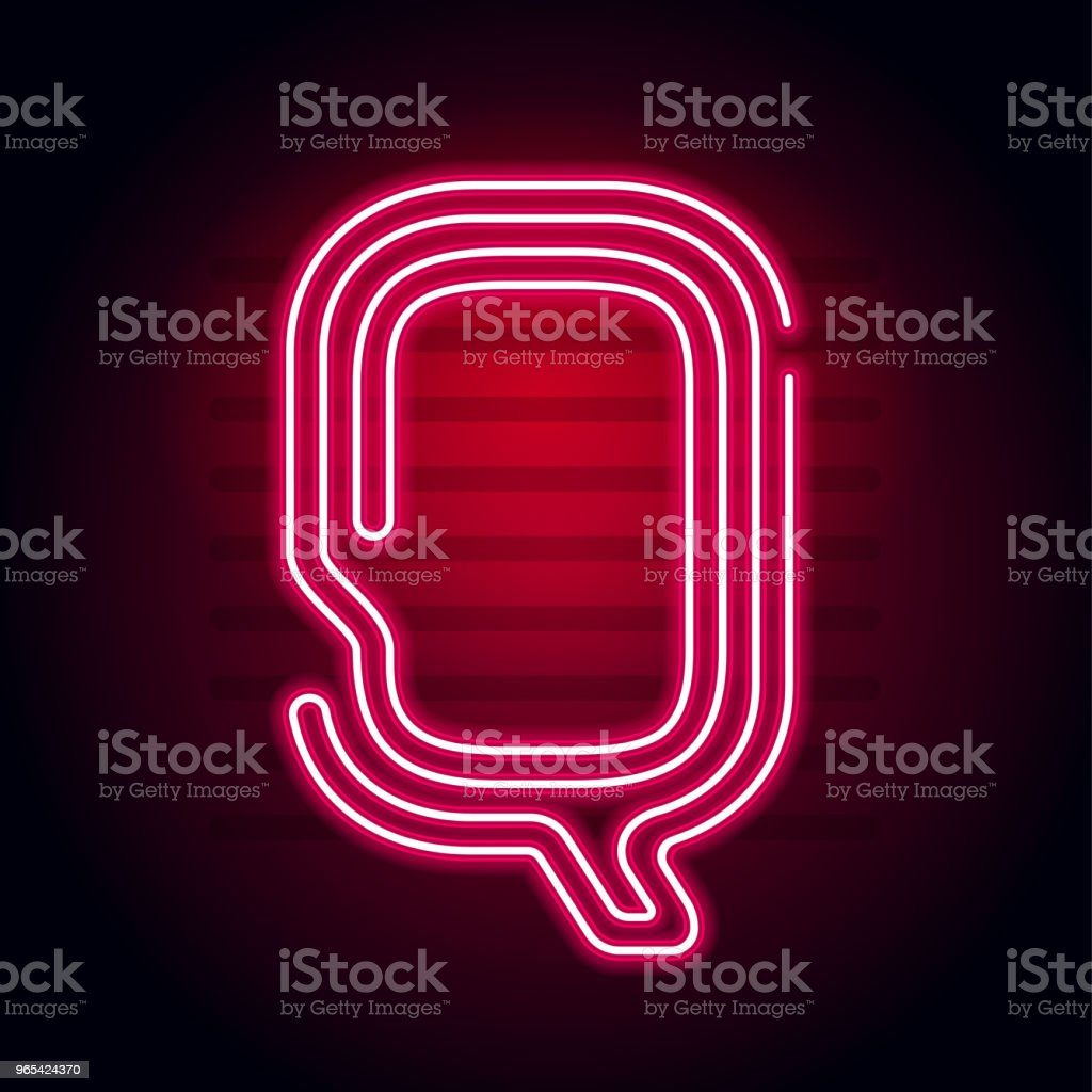 Realistic Red Neon letter. Character with Neon glow tube on dark background. Vector Neon alphabet for banners, titles, posters etc. royalty-free realistic red neon letter character with neon glow tube on dark background vector neon alphabet for banners titles posters etc stock illustration - download image now