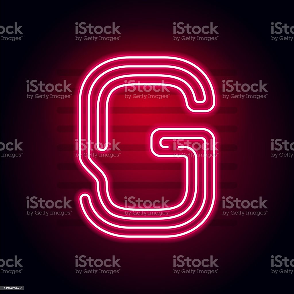 Realistic Red Neon letter. Character with Neon glow tube on dark background. Vector Neon alphabet for banners, titles, posters etc. realistic red neon letter character with neon glow tube on dark background vector neon alphabet for banners titles posters etc - stockowe grafiki wektorowe i więcej obrazów abstrakcja royalty-free