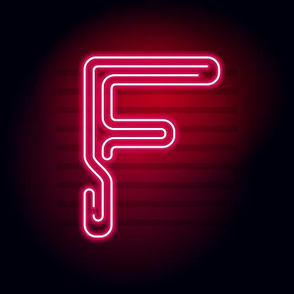 逼真的紅色霓虹燈字母在黑暗背景下的霓虹燈發光管字元用於橫幅標題海報等的向量霓虹燈字母表向量圖形及更多夜晚圖片