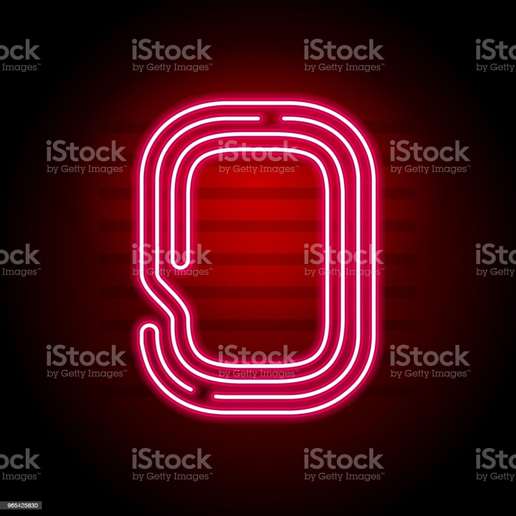 Realistic red Neon number. Number with Neon tube light on dark background. Vector Neon typeface for banners, titles, posters etc. royalty-free realistic red neon number number with neon tube light on dark background vector neon typeface for banners titles posters etc stock vector art & more images of abstract