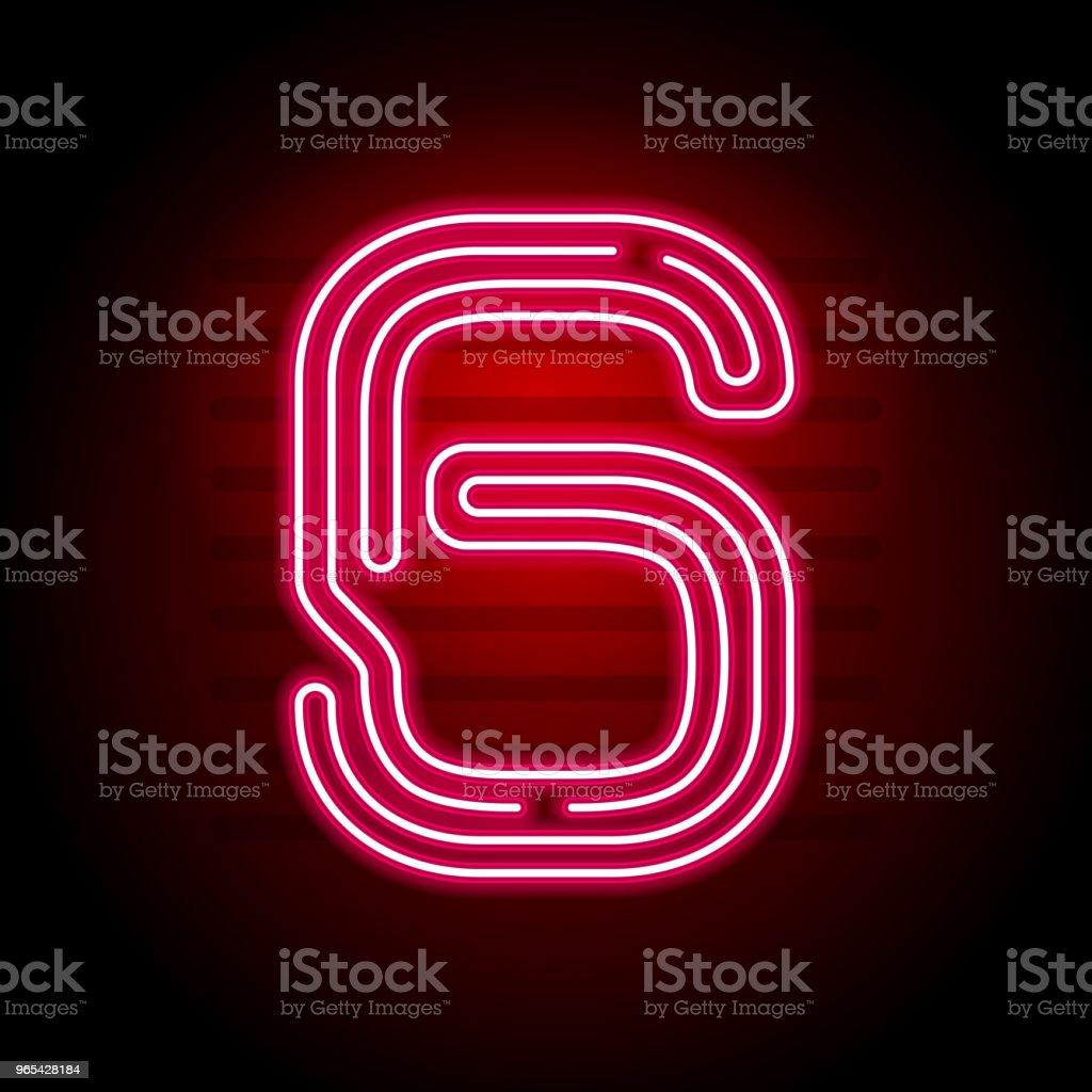 현실적인 빨간 네온 수입니다. 어두운 배경에 네온 튜브 빛 수입니다. 배너, 타이틀, 포스터 등 벡터 네온 서체입니다. - 로열티 프리 0명 벡터 아트