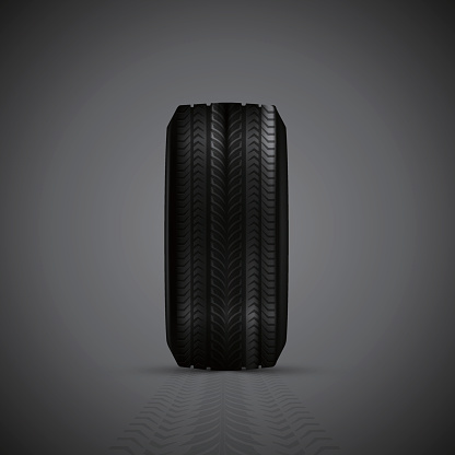 Realistic rubber tires