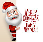 3D Realistic Santa Claus Cartoon Character Showing