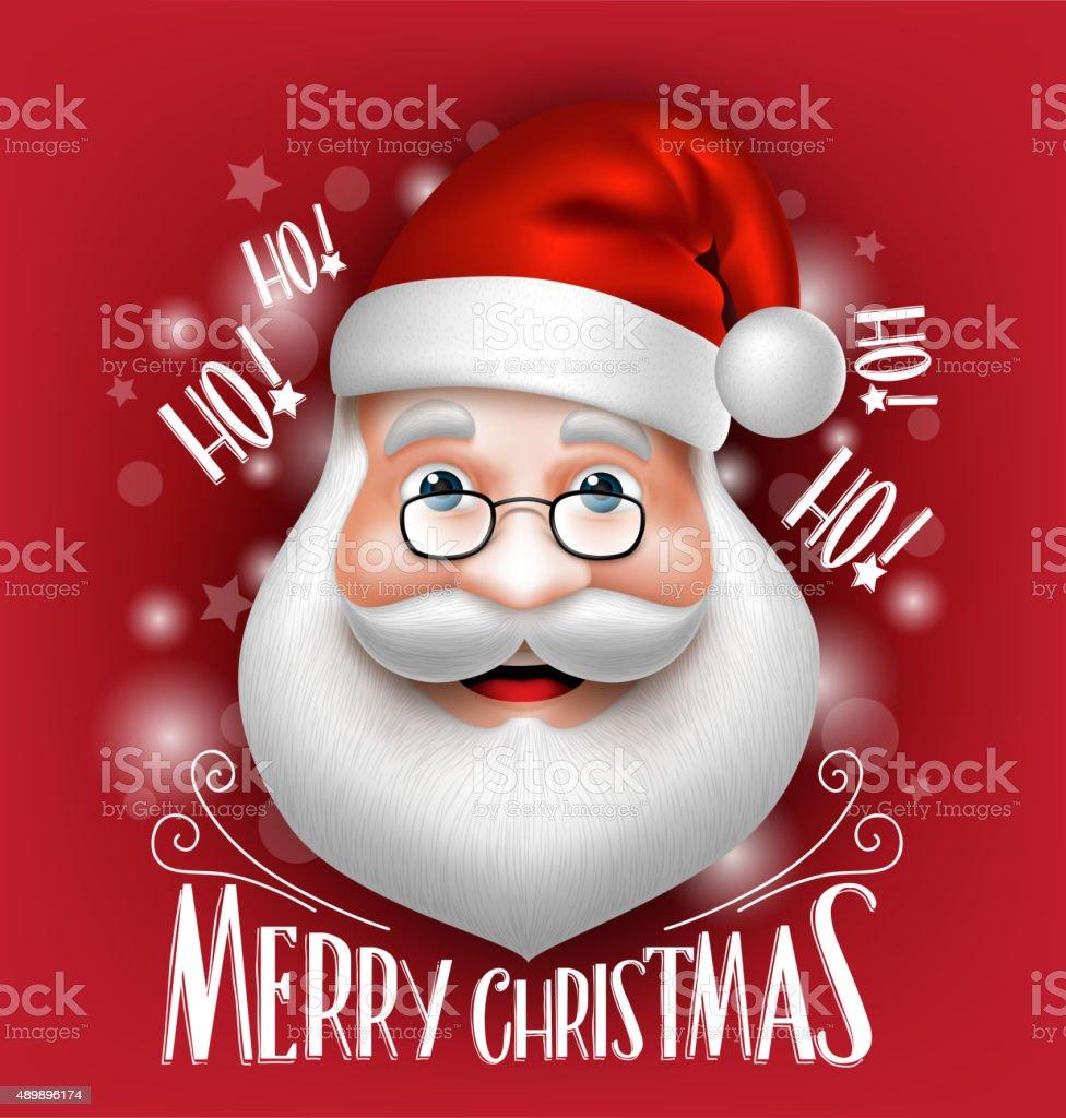 Buon Natale Del C Testo.3 D Bianco Di Babbo Natale Testa Di Auguri Buon Natale Immagini
