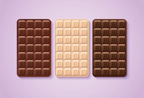 Realistic seamless texture with dark chocolate bar