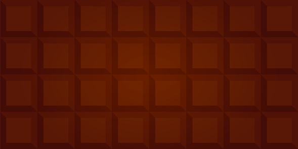 Realistic seamless texture with milk chocolate bar, vector illustration 10EPS