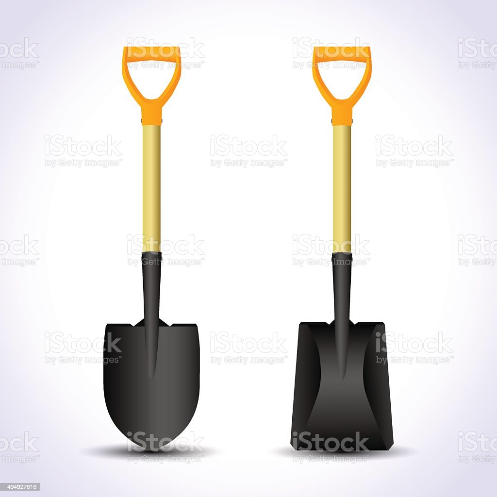 Realistic shovel isolated. vector art illustration