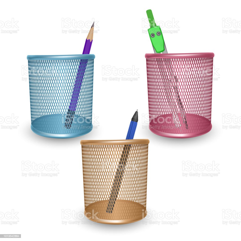 Le Crayon Simple Realiste Stylo Et Dessin Boussole Et Fournitures De