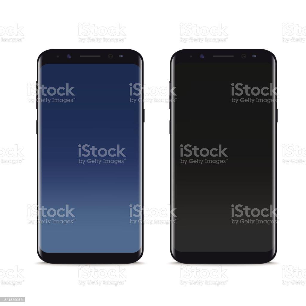 Realistic smartphone mock up. Vector. vector art illustration