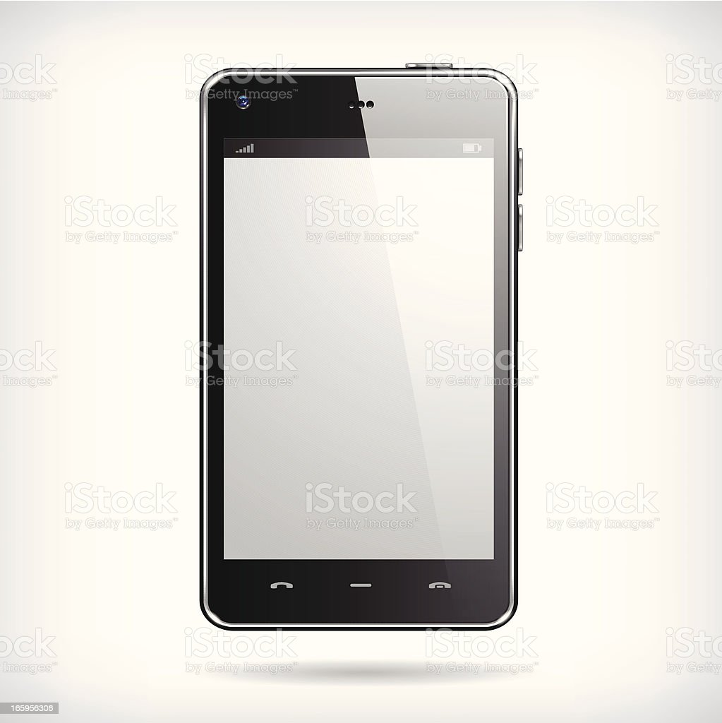 Realistic Smartphone royalty-free realistic smartphone stock vector art & more images of black color