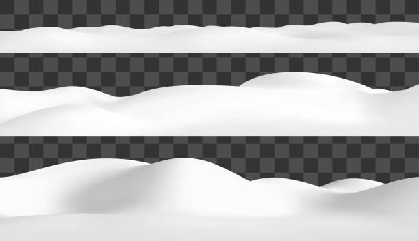 Realistic snow hills landscape. Vector snowdrift illustration. Winter background. Realistic snow hills landscape. Vector snowdrift illustration. Winter background snowdrift stock illustrations