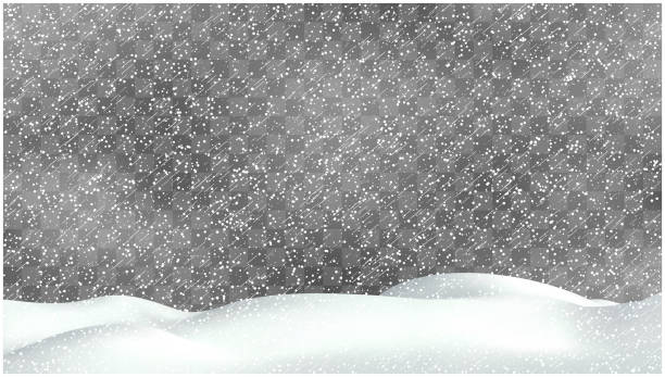 Realistic snow storm illustration. Vector snowdrift with falling snowflakes. Winter background. Realistic snow storm illustration. Vector snowdrift with falling snowflakes. Winter background snowdrift stock illustrations