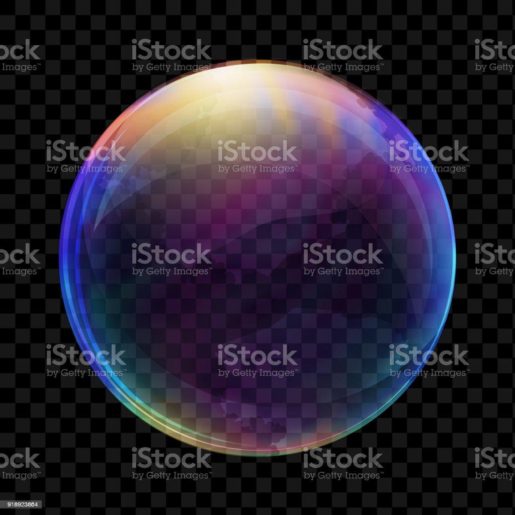 Realistic soap bubble vector art illustration