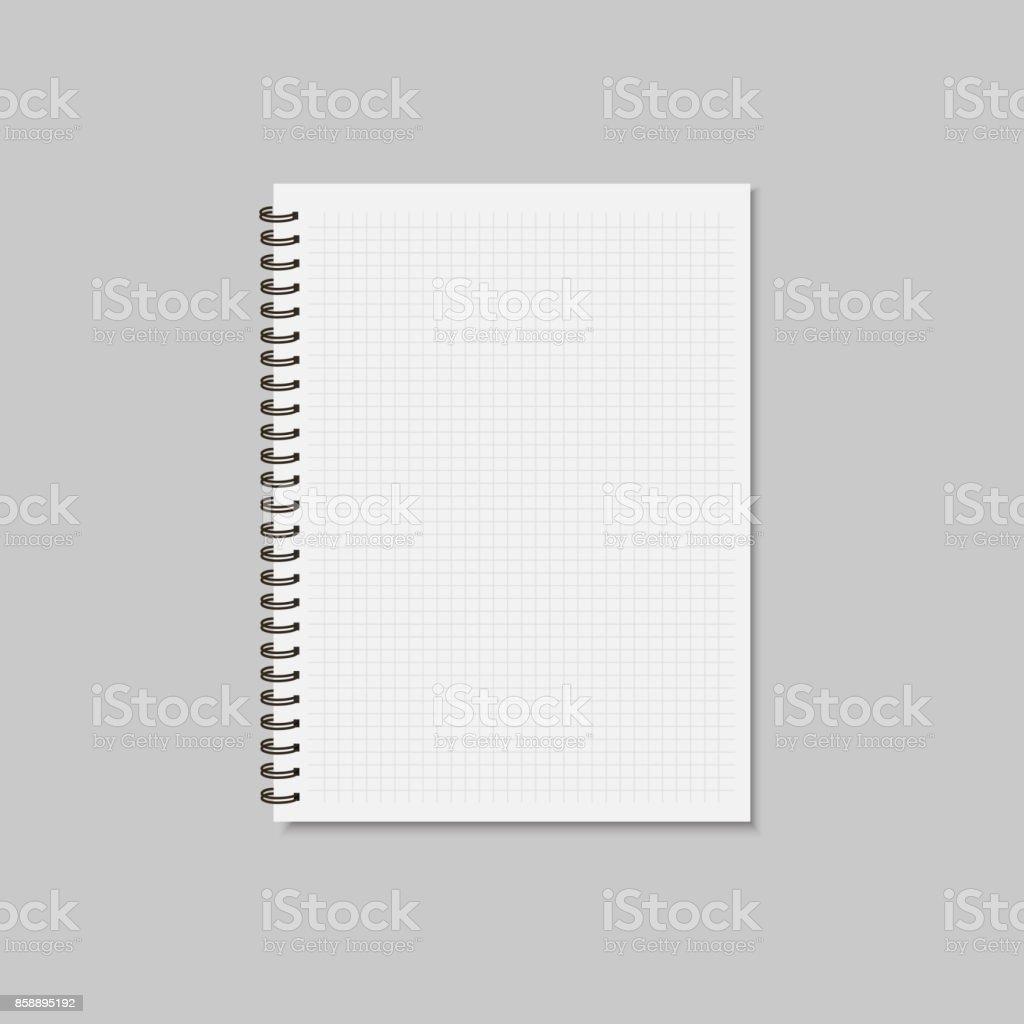 Ilustración de Maqueta En Blanco Del Bloc De Notas Realistas Espiral ...