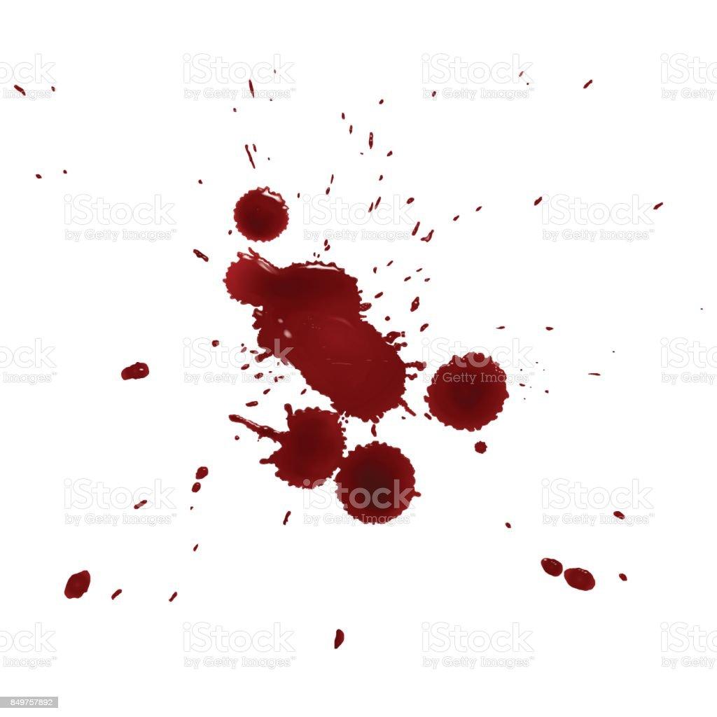 realistic splattered drops of blood realistic splattered drops of blood - immagini vettoriali stock e altre immagini di arte royalty-free