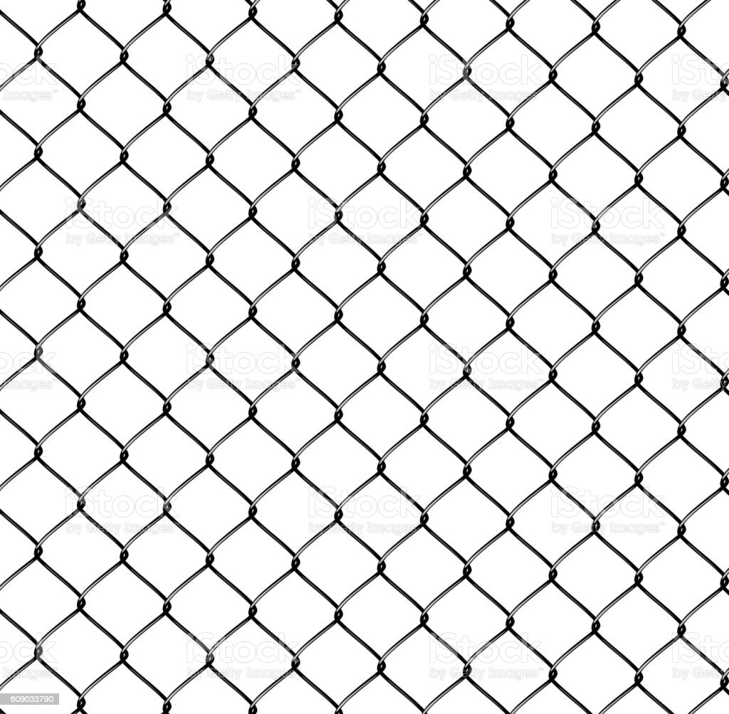 Realistic Steel Netting vector art illustration