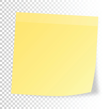 Realistic sticky note  isolated on blank background