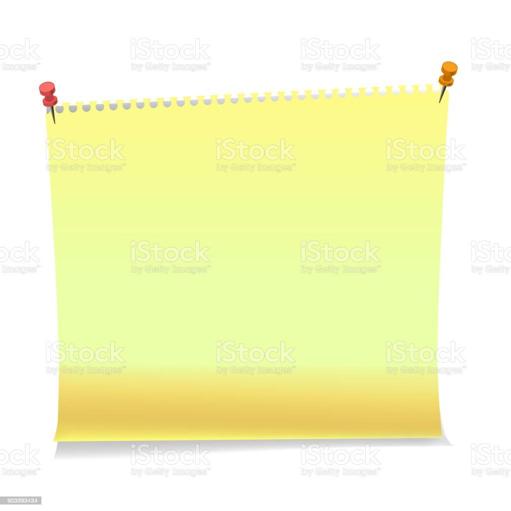 Ilustración de Realista Notas Adhesivas De Papel Plantillas De Hojas ...